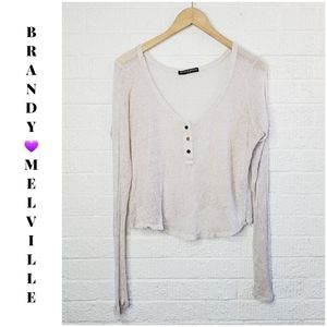 Brandy Melville mesh top made in Italy one size